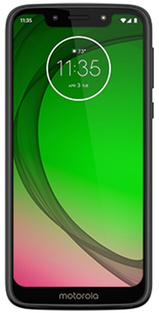 Moto G7 Play front facing in black