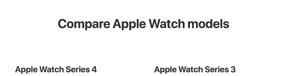 Compare Apple Watch models