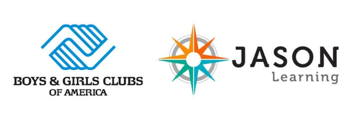Logos for U.S. Cellular nonprofit relationship with Boys and Girls Club of American and Jason Learning
